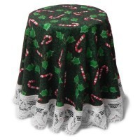 Dollhouse Skirted Christmas Green Table - Product Image