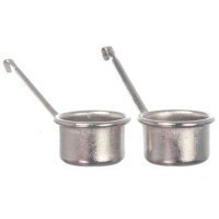 2 Dollhouse Cooper or Silvertone Pot Set - Product Image