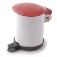 Sale $1 Off - Red & White Garbage Can - Product Image
