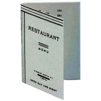 (*) Dollhouse 1 pc Printed Diner Menu - Product Image