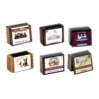 (**) 2 pc Cigar Box with Labels - Product Image