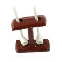 Dollhouse Pipe Stand with Pipes- Choice of Style - - Product Image