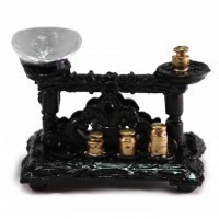 (**) Dollhouse Vintage Scale & Weights - Product Image