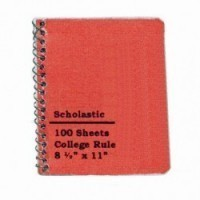 (*) Dollhouse School Spiral Bound Notebook - Product Image