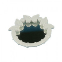 Dollhouse Round Butterfly Mirror - Product Image