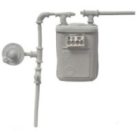 (**) Dollhouse Gas Meter - Product Image