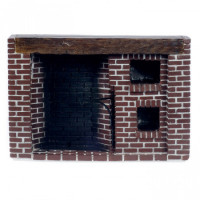 Dollhouse Brick Colonial Walk-in Fireplace - Product Image