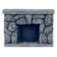 Dollhouse Fieldstone Fireplace - Product Image