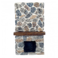 Dollhouse Floor to Ceiling - Stone Fireplace - Product Image