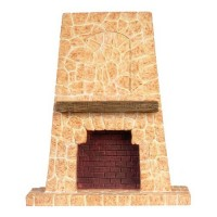 Dollhouse Floor to Ceiling Stone-Look Fireplace - Product Image