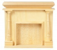 Dollhouse Unfinished Monticello Fireplace - Product Image