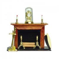 Dollhouse Walnut Fireplace Set- Choice of Style - - Product Image