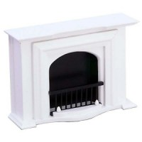 Dollhouse Victorian White Fireplace - Product Image