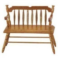 Dollhouse Deacon Bench - Product Image