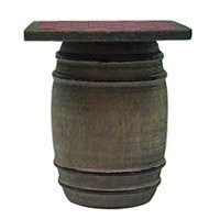 Dollhouse Checkerboard on Barrel - Product Image