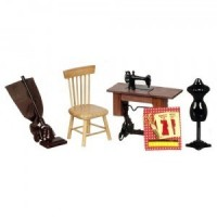 Dollhouse Sewing Room Set - Product Image