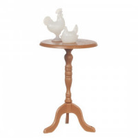 Dollhouse Candlestick Table with Figures - Product Image