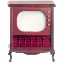 Disc. $4 Off - Dollhouse Queen Anne Console Television - Product Image