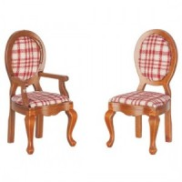 Dollhouse Dining Room Chair(s) with Fabric Seats - Product Image