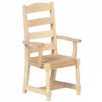 Unfinished Ladder Back Chair - Product Image