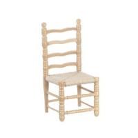 Dollhouse Oak Ladderback Side Chair - Product Image