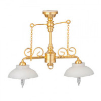 Dollhouse Billiard Table / Ornate Chandelier - Product Image