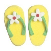 Dollhouse Pair of Yellow Lady's Flip Flops - Product Image