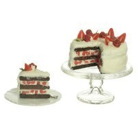 Dollhouse Chocolate Cake With Strawberries - Product Image