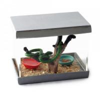 Dollhouse Pet Snake in Terrarium - Product Image