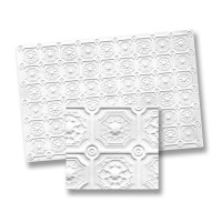 Dollhouse Faux Tin Ceiling Panel - Product Image