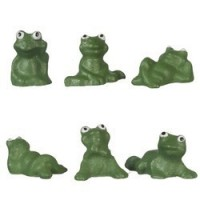 (§) Disc .60¢ Off - Dollhouse Ceramic Frogs - Product Image