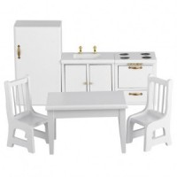 Dollhouse 6 pc White Kitchen Set - Product Image