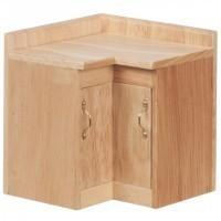 (*) Dollhouse Oak Corner Cabinet - Product Image