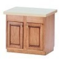 (*) Center Island with Butcher Block Top - Product Image