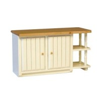 Modern White & Oak Center Island - Product Image