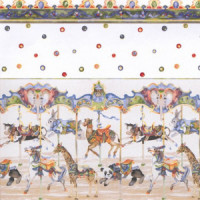 (§) Sale $3 Off - 3 Shts Carousel Wallpaper - Product Image