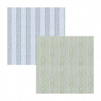 (§) Sale $3 Off - 3 Shts Marcus Damask Stripe- Choice of Color - - Product Image