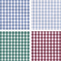 (§) Disc 50% Off - 3 Shts Country Gingham Paper - Product Image