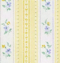 (§) Disc 50% Off - 3 Shts Yellow/Blue Floral Stripe - Product Image
