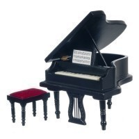 § Sale $6 Off - Black Baby Grand Piano - Product Image