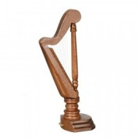Walnut Dollhouse Harp - Product Image