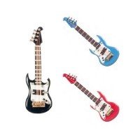 Dollhouse Electric Guitar with Case- Choice of Color - - Product Image