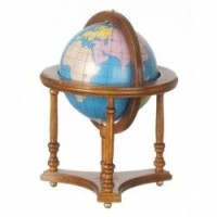 (§) Sale $3 Off - Walnut Floor Globe - Product Image