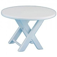 Dollhouse Wood Patio Table - White - Product Image