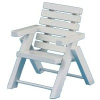 Dollhouse Wood Patio Chair - White - Product Image