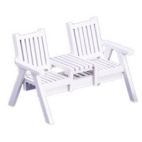 (*) Dollhouse Lawn Loveseat - White - Product Image