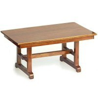 Disc $3 off - Dollhouse Pecan Mission Style Table - Product Image
