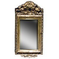 § Sale $3 Off - Dollhouse Tall Gold Ornate Mirror - Product Image
