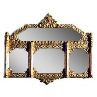 Dollhouse Large Ornate Mirror - Gold - Product Image