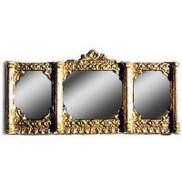 Dollhouse Long Ornate Mirror - Gold - Product Image